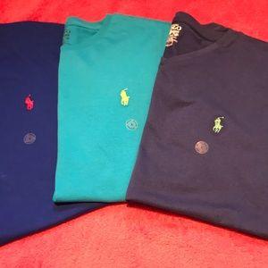 3 NWT Polo Ralph Lauren t shirts
